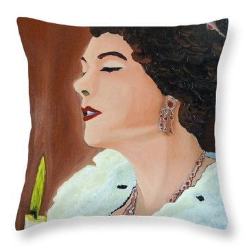 Throw Pillow featuring the painting Renata by Lisa Brandel
