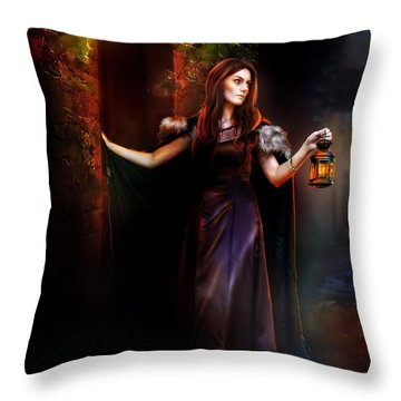 Rendevouz Throw Pillow by Mary Hood