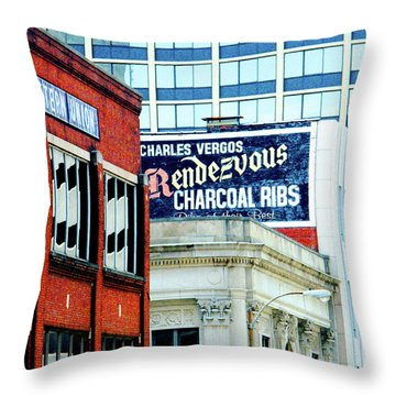 Throw Pillow featuring the photograph Rendezvous by Lizi Beard-Ward