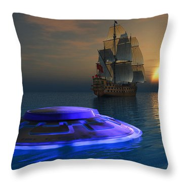 Reports Of Strange Glowing Objects Throw Pillow