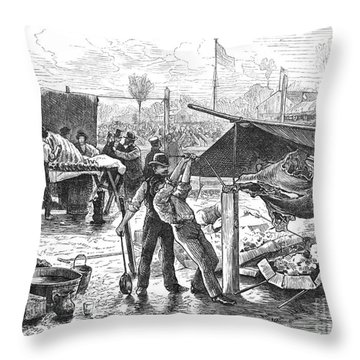 Republican Barbecue, 1876 Throw Pillow by Granger