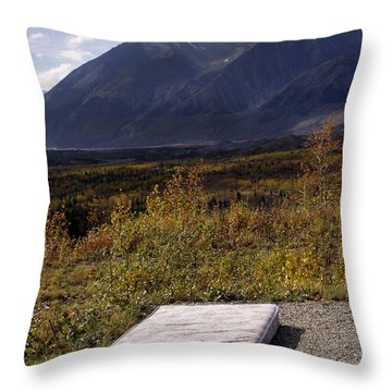 Throw Pillow featuring the photograph Rest And Enjoy The Great Outdoors by Karen Lee Ensley