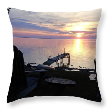 Resting Companions Throw Pillow