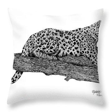 Resting Days Throw Pillow by Elizabeth Harshman