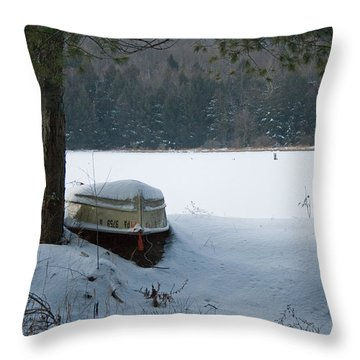 Resting For The Season Throw Pillow
