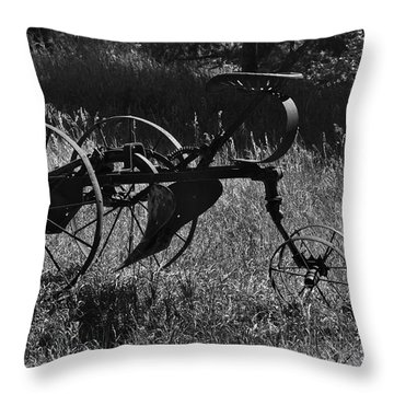 Throw Pillow featuring the photograph Retired Farmer by Ron Cline