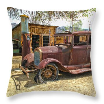 Retired Model T Throw Pillow