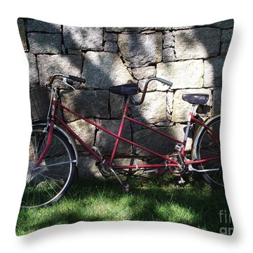 Retired  Ride Throw Pillow