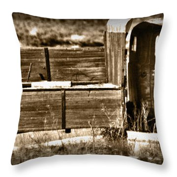Retired Truck Throw Pillow