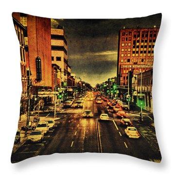 Retro College Avenue Throw Pillow by Joel Witmeyer