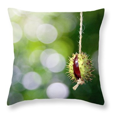 Retro Conker  Throw Pillow