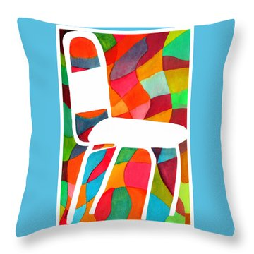 Retro Dinette Chair Throw Pillow by Paula Ayers