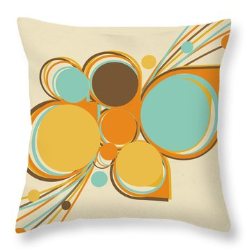 Retro Pattern Throw Pillow by Setsiri Silapasuwanchai