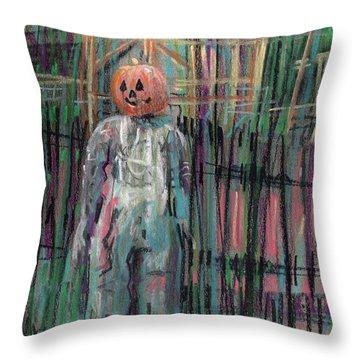 Return Of Pumpkinhead Man Throw Pillow by Donald Maier