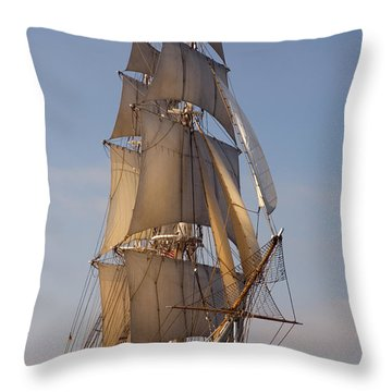 Return Of The Pilgrim Throw Pillow
