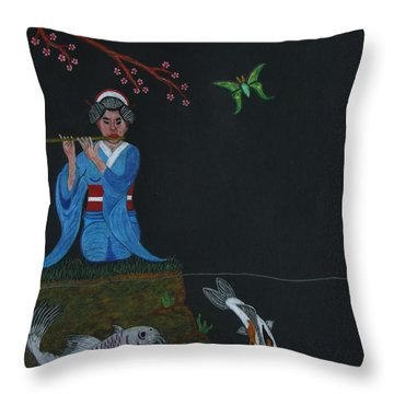 Reunited With A Lover. With A Description Throw Pillow by Gerald Strine