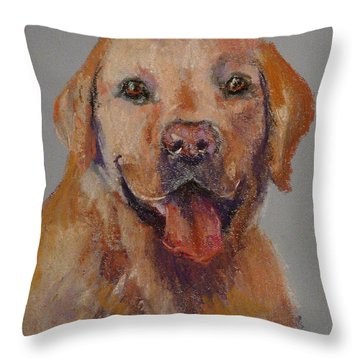Throw Pillow featuring the painting Rex  by Carol Berning