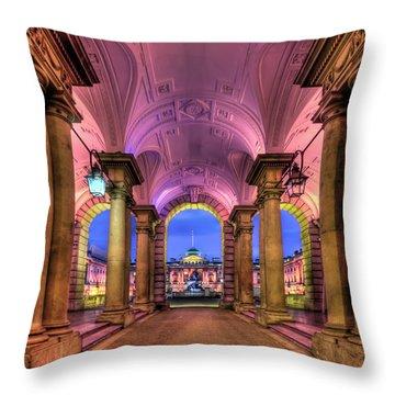 Rhapsody In Pink Throw Pillow by Evelina Kremsdorf