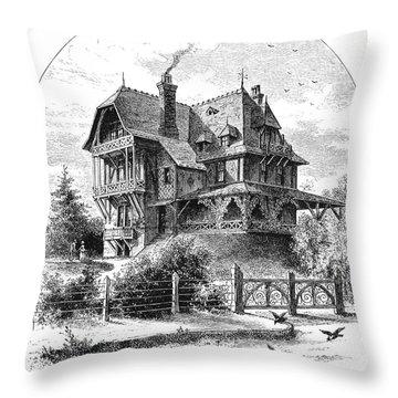 Rhode Island: Villa, 1876 Throw Pillow by Granger