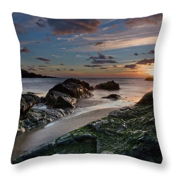 Rhosneigr Sunset  Throw Pillow