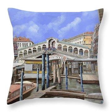Rialto Dal Lato Opposto Throw Pillow by Guido Borelli
