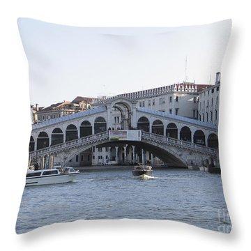 Rialto. Venice Throw Pillow by Bernard Jaubert