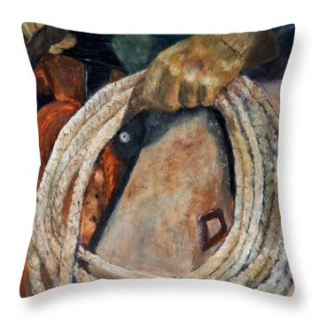 Riata Throw Pillow by Jan Holman
