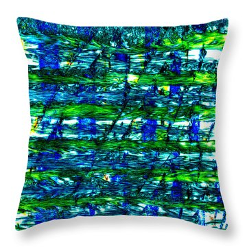 Rice Harvest Throw Pillow