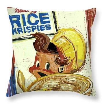 Rice Krispies Throw Pillow