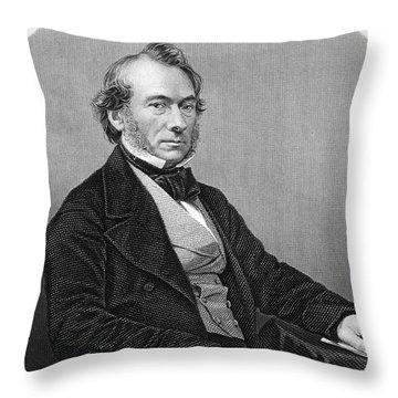 Richard Cobden (1804-1865). /nenglish Politician And Economist. Steel Engraving, English, 19th Century Throw Pillow by Granger