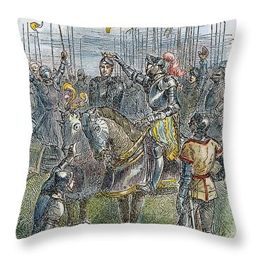 Richard IIi At Bosworth Throw Pillow by Granger
