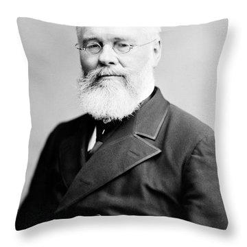 Richard Jordan Gatling, American Throw Pillow by Photo Researchers