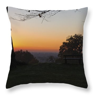 Richmond Sunset Throw Pillow by Maj Seda