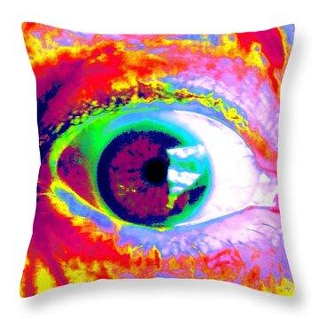 Rico's Eye Throw Pillow by Renate Nadi Wesley