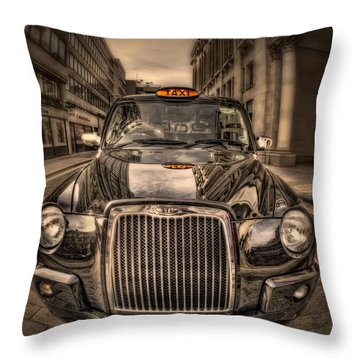 Ride With Me Throw Pillow by Evelina Kremsdorf