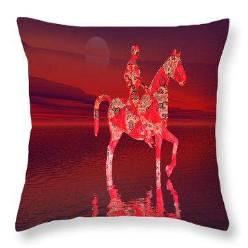 Riding At Dusk Throw Pillow by Matthew Lacey