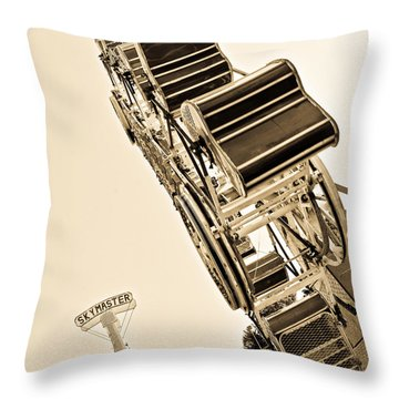 Riding High Throw Pillow by Mike Martin