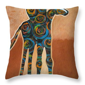 Riding In Circles Throw Pillow by Lance Headlee