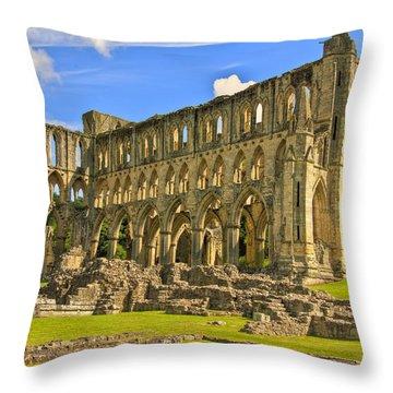 Rievaulx Abbey Ruins Throw Pillow by Trevor Kersley