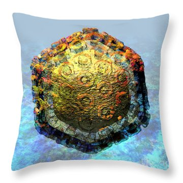 Rift Valley Fever Virus 2 Throw Pillow by Russell Kightley