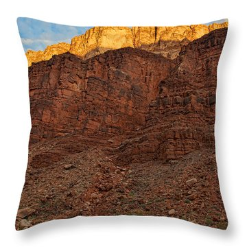 Rim Gold Throw Pillow