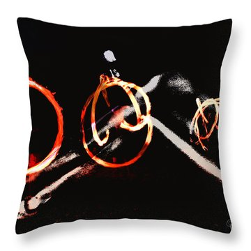 Throw Pillow featuring the photograph Burning Rings Of Fire by Clayton Bruster