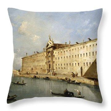 Rio Dei Mendicanti Throw Pillow by Francesco Guardi