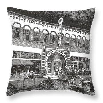 Rio Grande Theater Throw Pillow by Jack Pumphrey