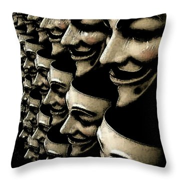 Riot Gear Throw Pillow by Monday Beam