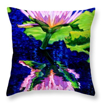 Ripple Reflections Of Beauty Throw Pillow by John Lautermilch
