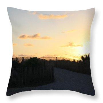 Rise And Shine Miami Throw Pillow