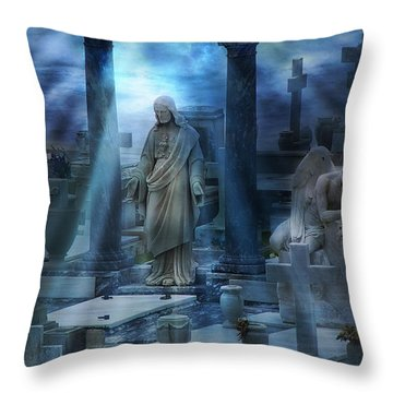 Throw Pillow featuring the photograph Rise by John Rivera