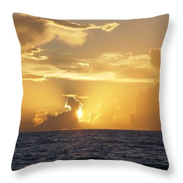 Rise Over Atlantic Throw Pillow by Elizabeth Sullivan