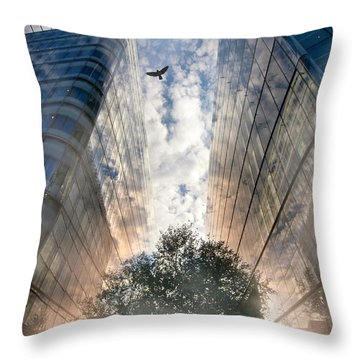 Rise Throw Pillow by Richard Piper
